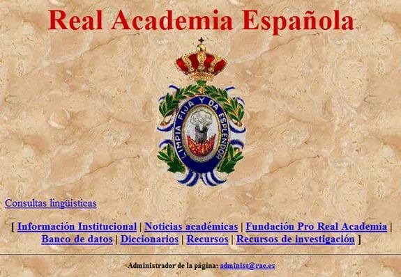 rae real academia lengua española 1999