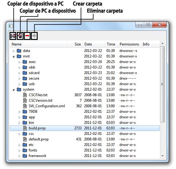 DDMS File Explorer