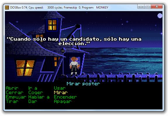 Monkey Island en DOSBox: Cuando sólo hay un candidato, sólo hay una elección