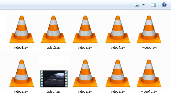 Iconos de video en Windows no muestran la miniatura o previsualización