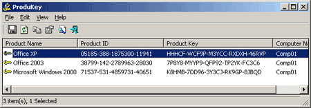 produkey serial llave clave password recuperar contraseña
