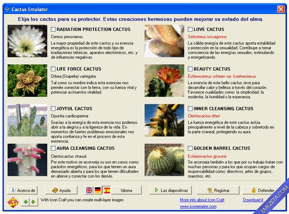 Programas inútiles para PC: Cactus emulator, cactus antiradiación por software