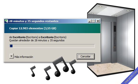 Programas inútiles para PC: Musica de ascensor para las esperas de Windows