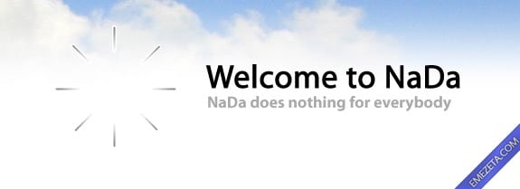Programas inútiles para PC: NaDa 0.5 (No hace nada)