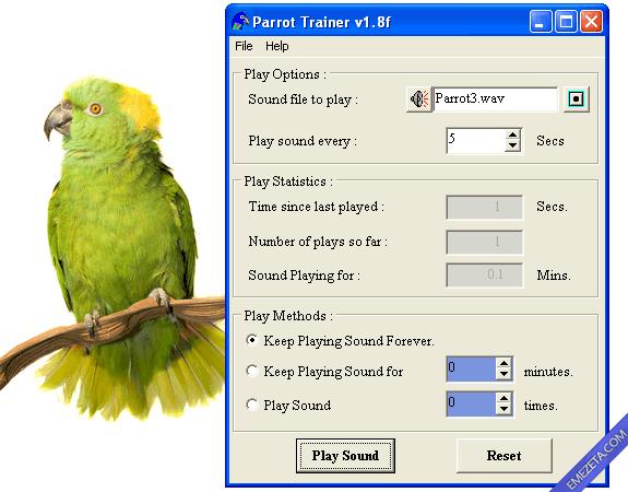Programas inútiles para PC: Parrot Trainer, entrenador de loros