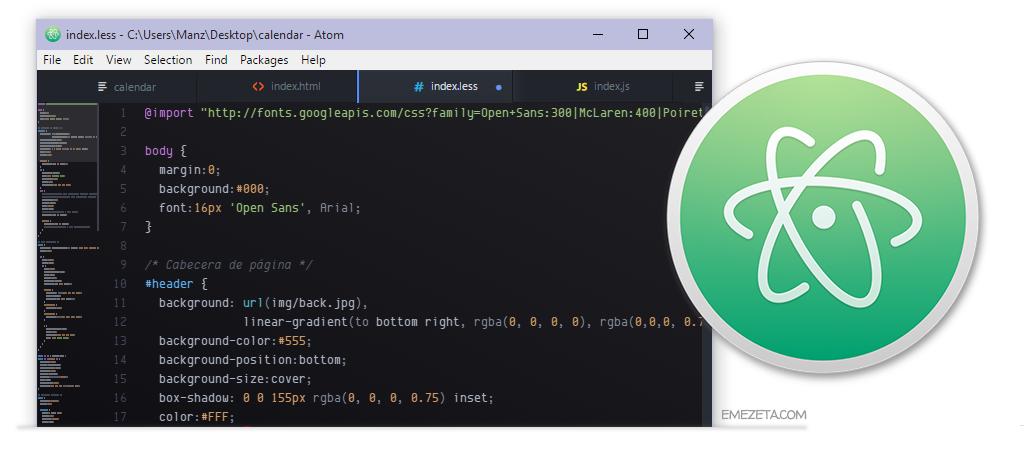 Atom Editor, una opción estupenda para desarrollo web