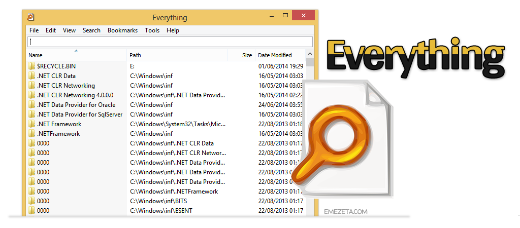 Everything, potente programa de búsqueda para Windows