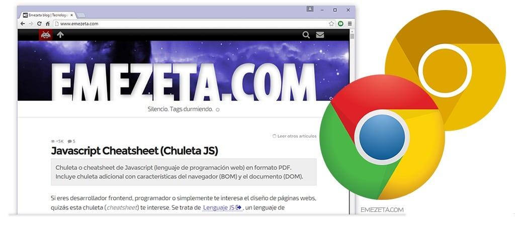 Google Chrome es el navegador más utilizado por los lectores de Emezeta Blog