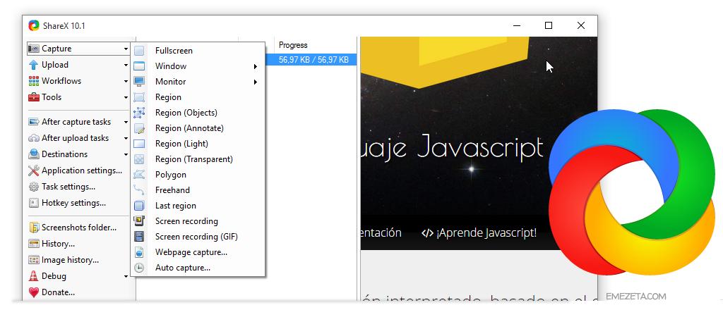 ShareX, programa open source para gestionar capturas de pantalla automáticamente