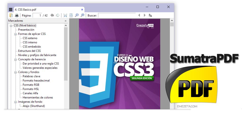 SumatraPDF, visor minimalista de documentos PDF