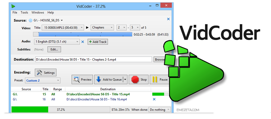 VidCoder, conversor de video y audio
