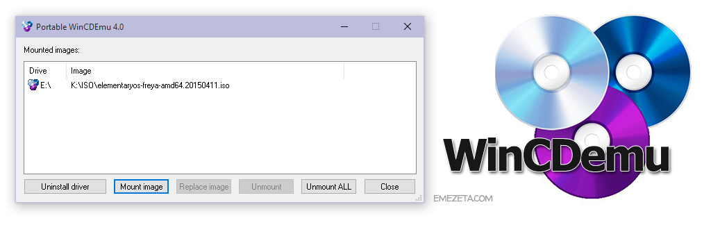 WinCDEmu, programa minimalista para montar imágenes