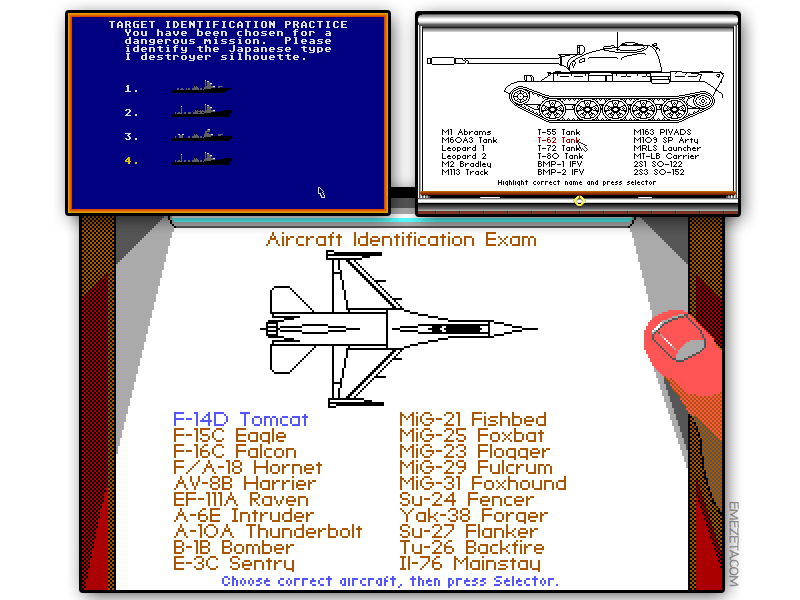 Juegos de MicroProse: F-19 Stealth Fighter, M1 Tank Platoon, Silent Service