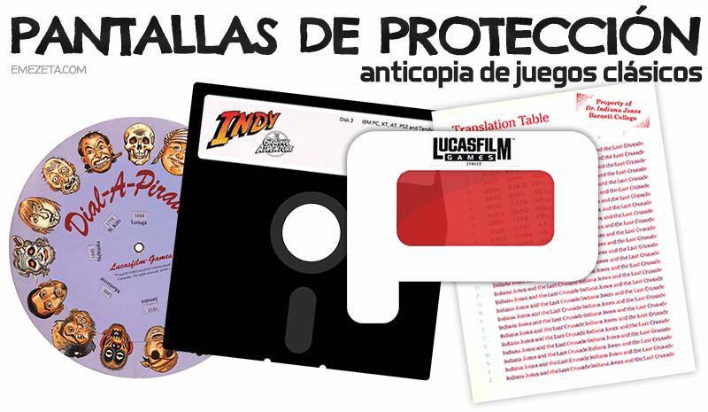 Pantallas de protección anticopia de juegos clásicos