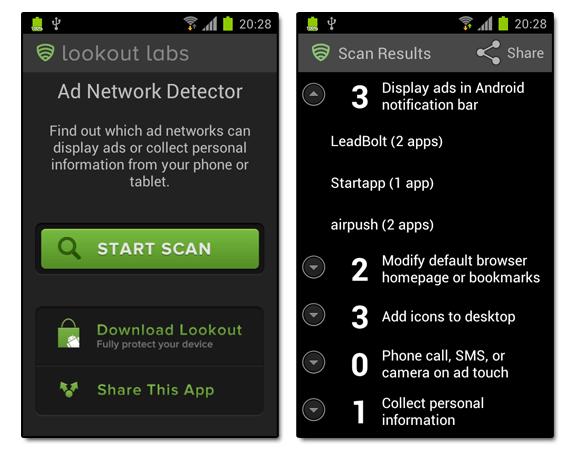 Ad Network Detector: Publicidad en la zona de notificaciones de Android