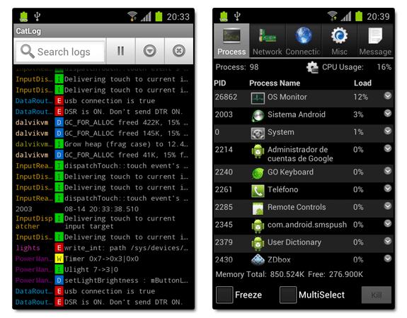 CatLog y OS Monitor: Método para detectar notificación publicitaria en Android