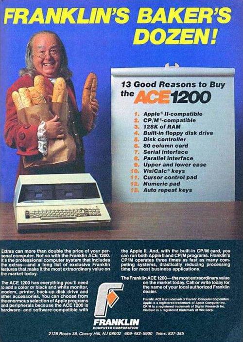 Publicidad retro: Benjamin Franklin Ace 1200