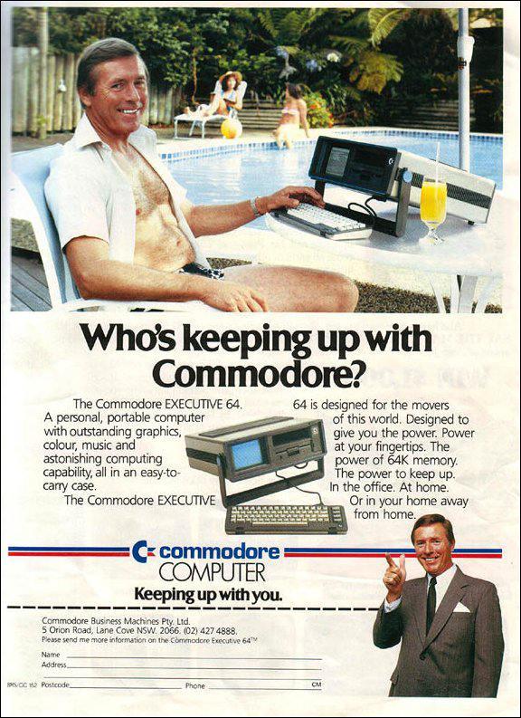Publicidad retro: Commodore Executive 64