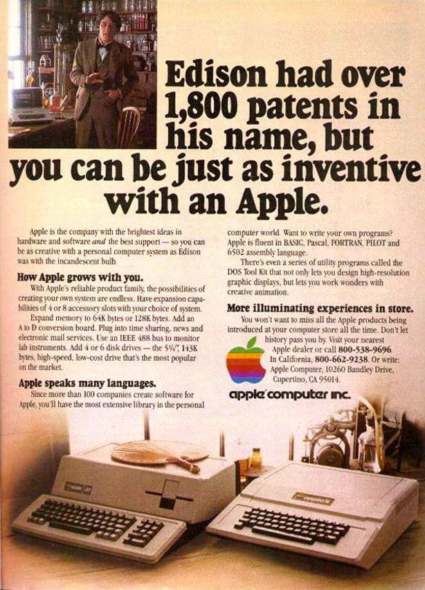 Publicidad retro: Apple Computer con Thomas Edison