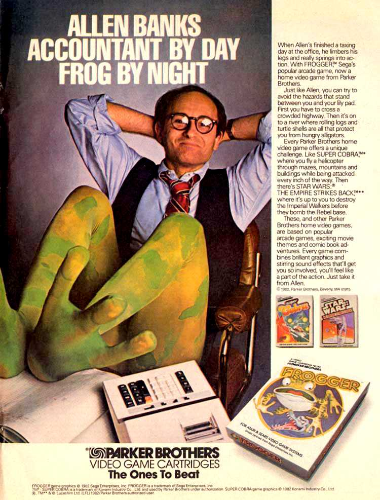 Publicidad retro: Frogger (Parker Brothers)