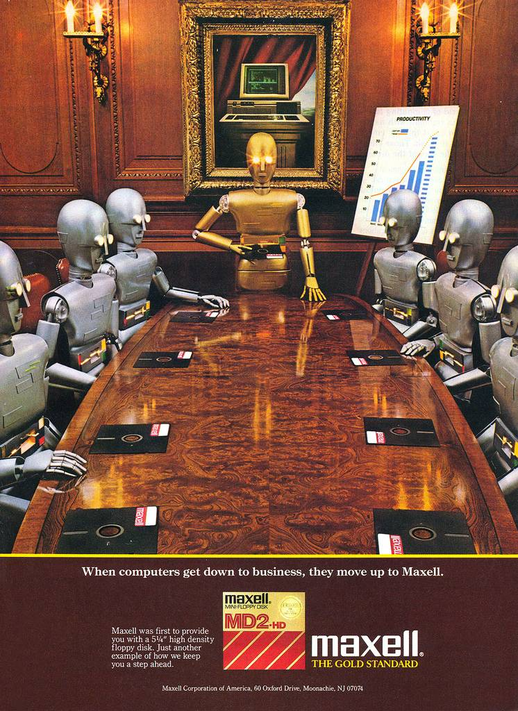 Publicidad retro: Maxell MD2-HD Floppy Disk