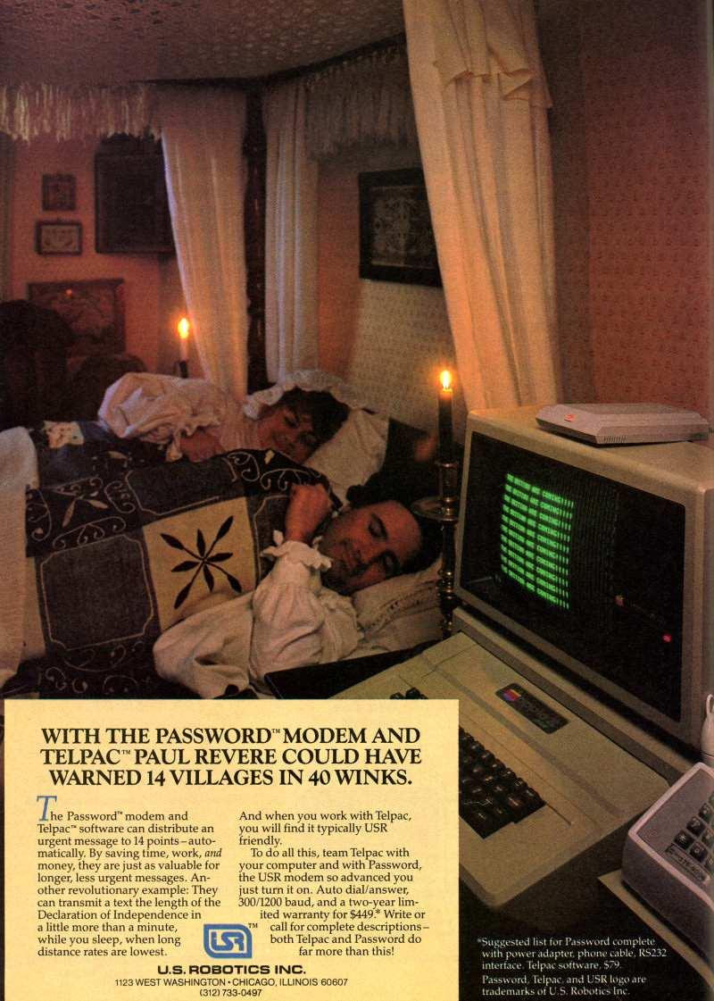 Publicidad retro: Modem US Robotics Password con software Telpac