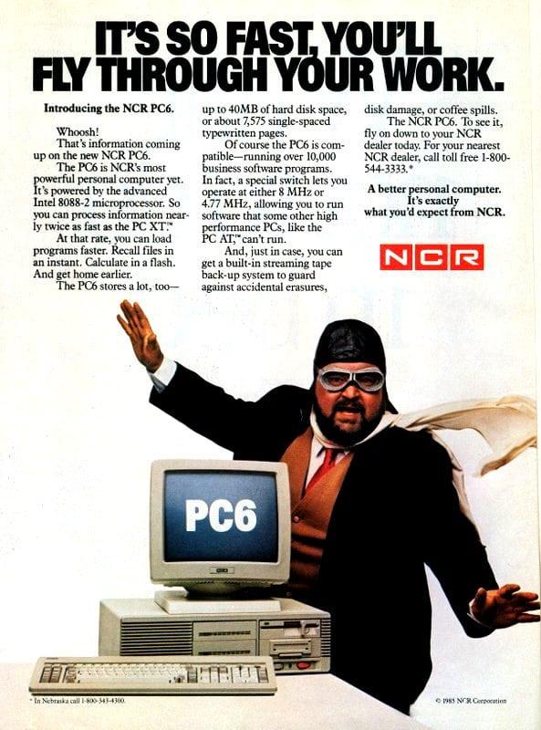 Publicidad retro: NCR PC6 1985