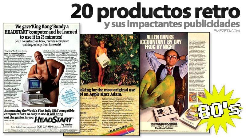 Publicidad de productos retro
