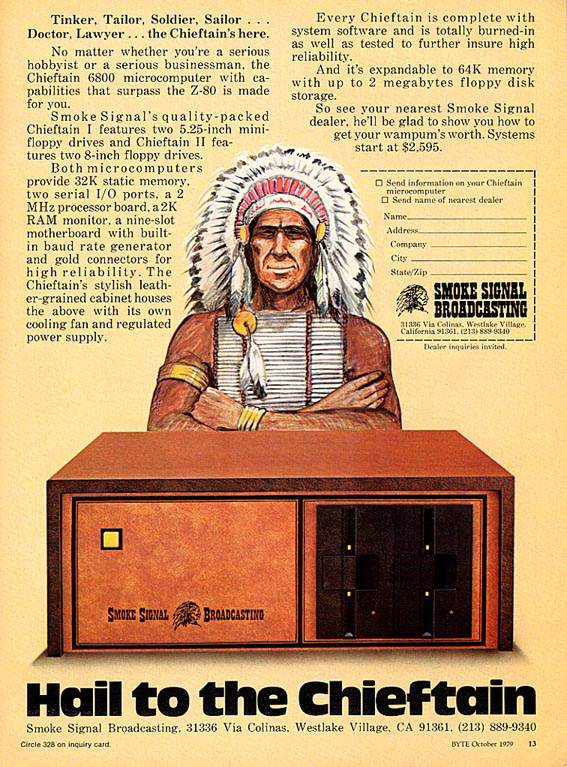 Publicidad retro: Chieftain, de Smoke Signal Broadcasting