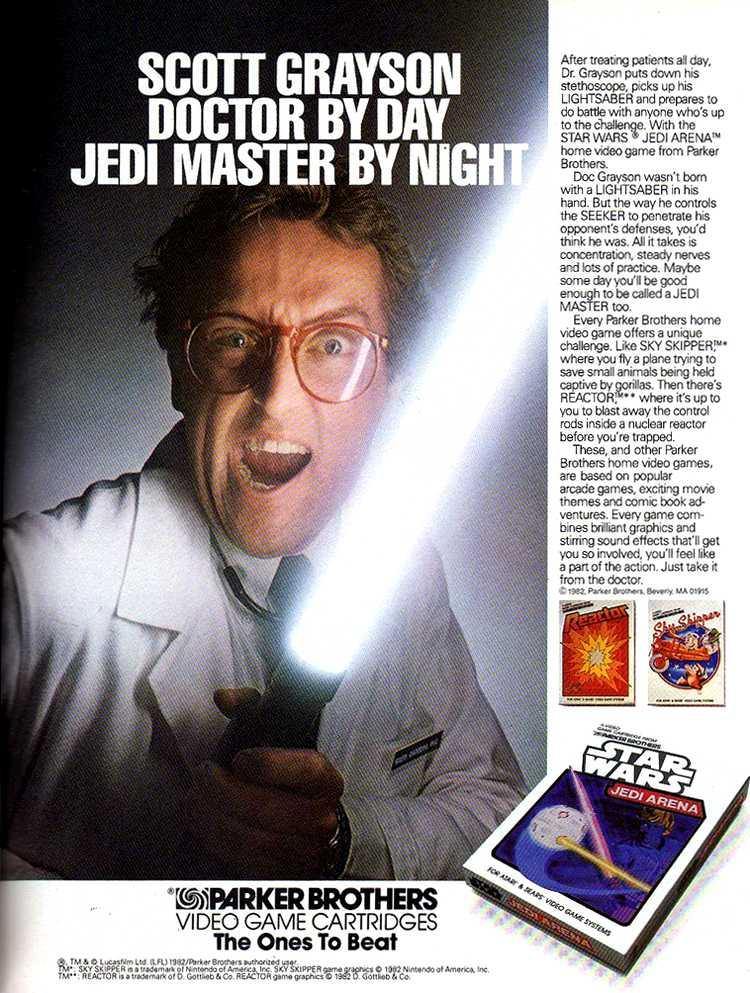 Publicidad retro: Star Wars Jedi Arena Scott Grayson