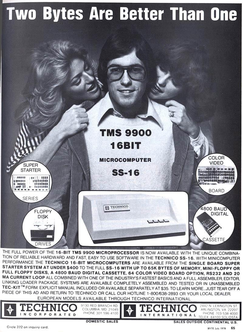 Publicidad retro: Texas Instruments TMS9900