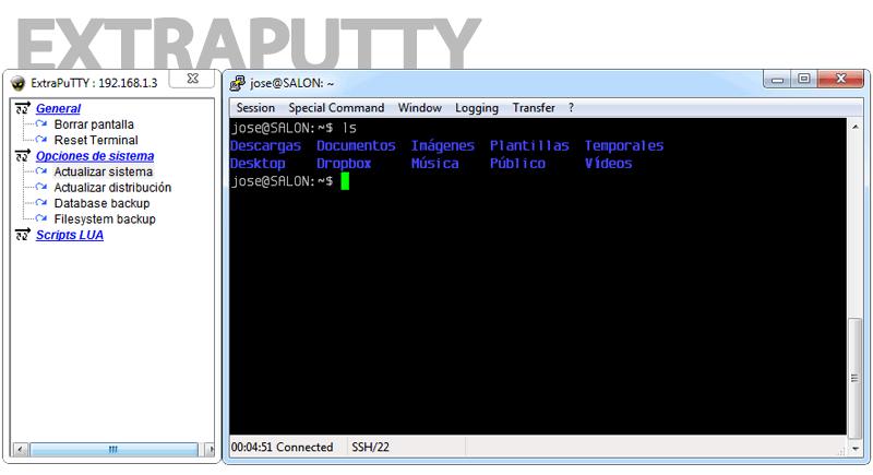 ExtraPuTTY: Fork de PuTTY que añade opciones adicionales
