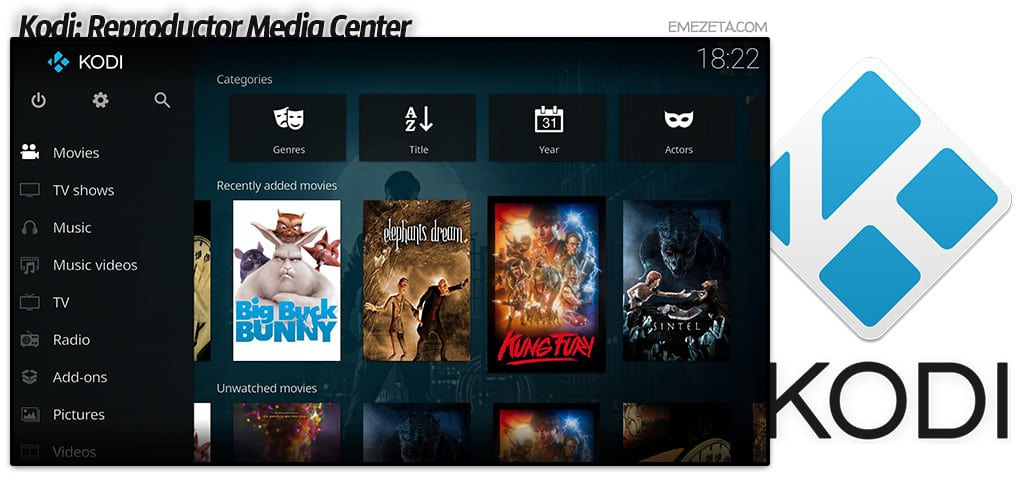 Kodi Media Center (antes XMBC) en Raspberry Pi