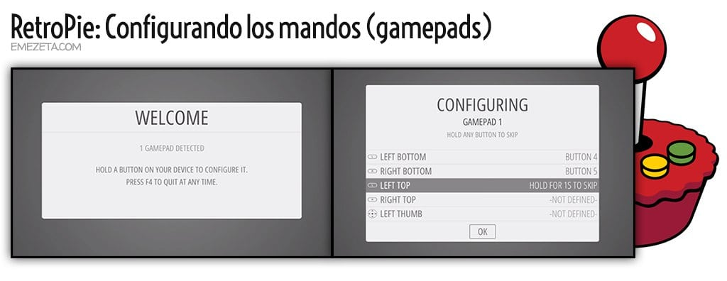 RetroPie: Welcome (Configurando gamepad)
