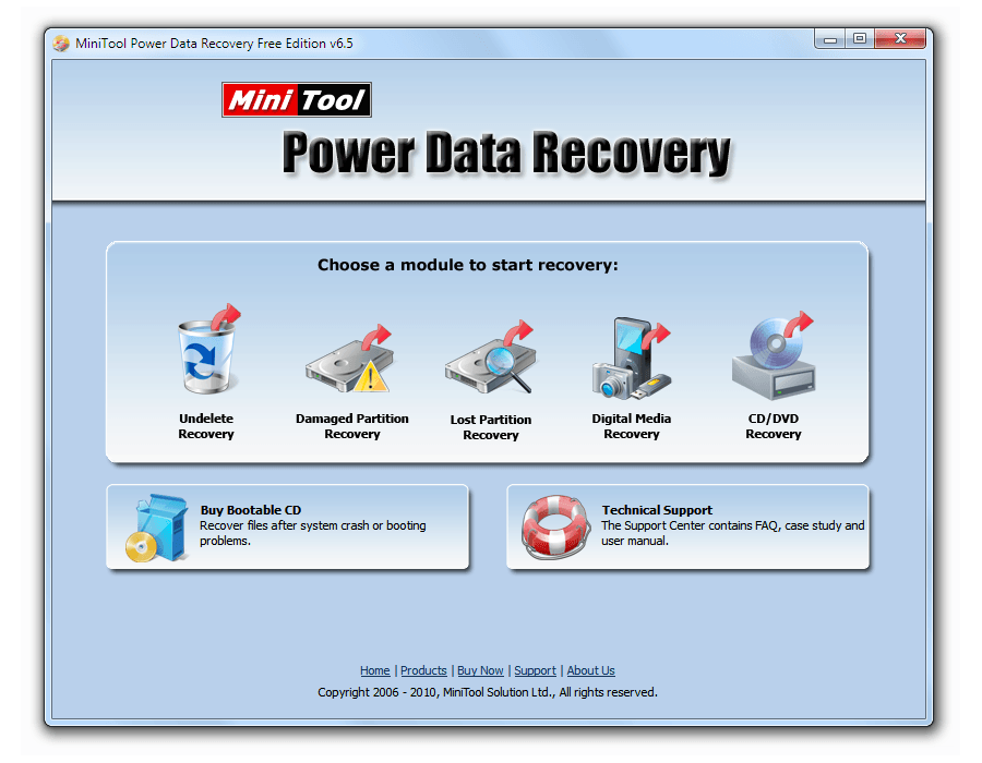 Recuperación de datos: Captura de pantalla de MiniTool Power Data Recovery
