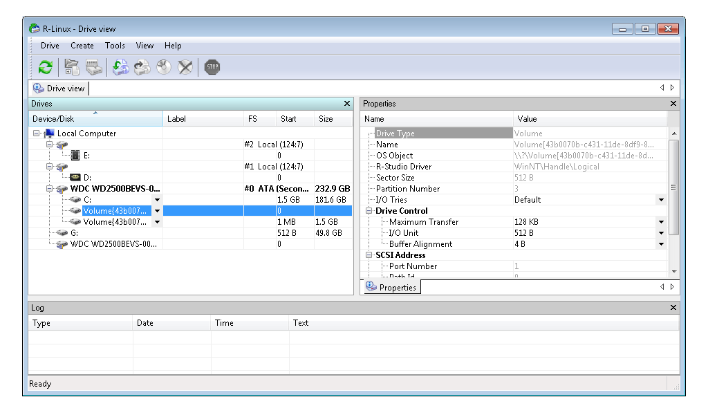 R-Linux: Programa para recuperar información de un disco