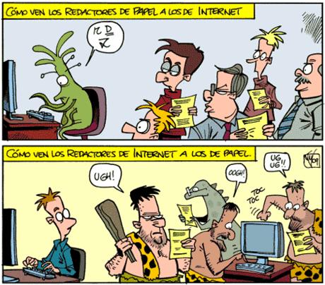 redactores de internet papel