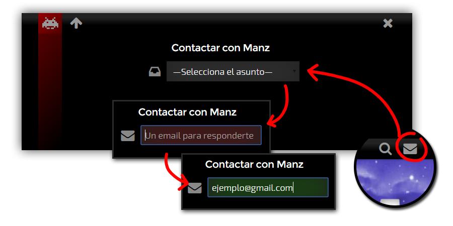 Nuevo formulario de contacto de Emezeta