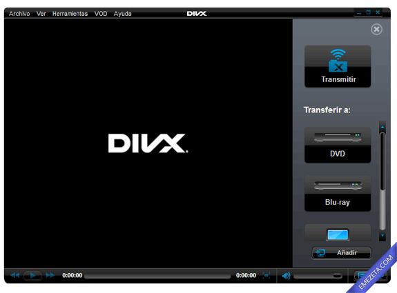 Reproductores de vídeo gratuitos: Divx Player