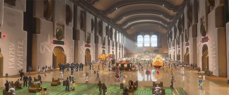 Rompe Ralph: Estación Central de juegos (Basada en Grand Central Terminal de New York)