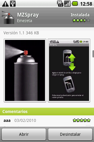 screenshot android capturas market