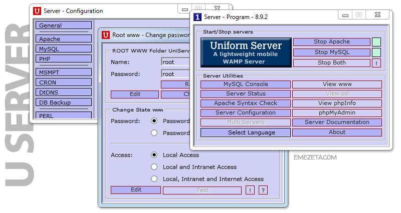 Uniform Server (Windows + Apache + MySQL + PHP)