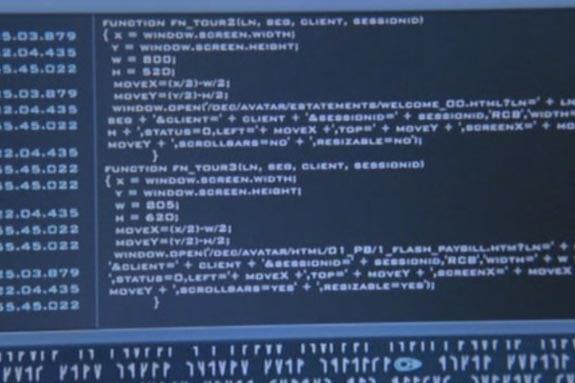 Stargate: El arca de la verdad. Código de los replicantes: Javascript.