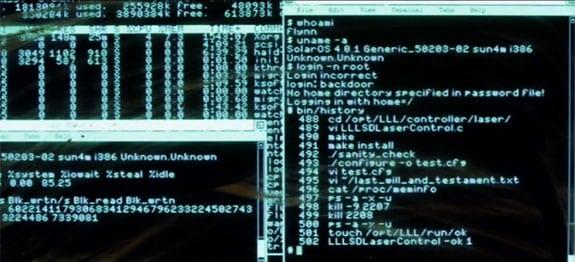 Tron Legacy: Terminal de texto de Flynns