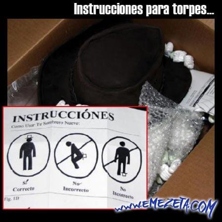 instrucciones sombrero