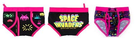 space invaders bragas braguitas ropa interior