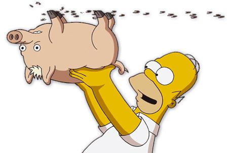 spider cerdo los simpsons