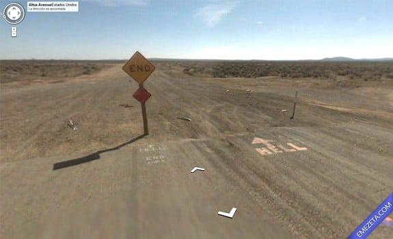 Google Street View: Entrada salida infierno
