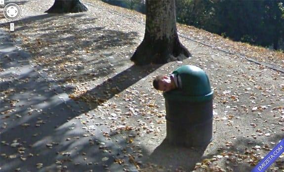 Google Street View: Hombre basura
