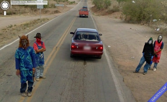 Google Street View: Mexico horror party